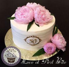 Peony 50th Birthday Cake
