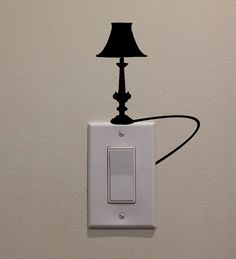 Antique Lamp Powered From Light Switch  by DecalPhanatics on Etsy, $2.99
