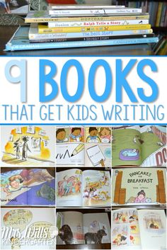 Here are 9 books that get kids writing in writers workshop. These mentor text…