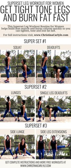 4 Fun Fat Burning Superset Workout Routines | https://www.christinacarlyle.com/4-fat-burning-superset-workout-routines/