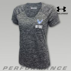 Under Armour Air Force Women's Twisted Fitness Tech Tee | ArmedForcesGear.com