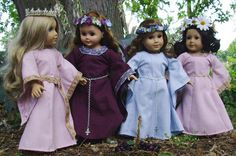 Belle of theMedieval Forest Gown for AG by SpecialFriendsByJudy, $28.00