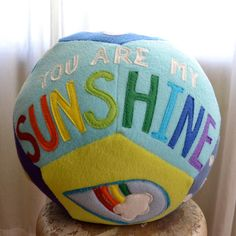 Personalized Giant Fleece Ball - You Are My Sunshine Themed. $50.00, via Etsy.