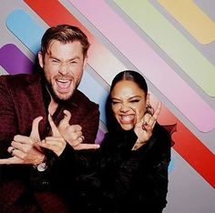 """Chris Hemsworth and Tessa Thompson are such a powerful duo"" Zendaya, Snowwhite And The Huntsman, Chris Hemsworth Thor, Babe, Avengers Cast, Tessa Thompson, Marvel Actors, Attractive People, Elle Fanning"