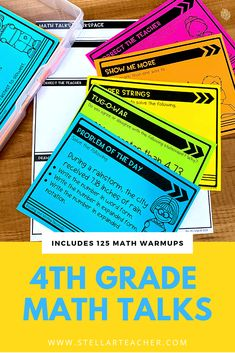 These math talks are a great way to start your math lesson. Each warmup routine will promote critical thinking and problem solving. They are an easy way to get students talking and writing about math. There are 125 warmup questions included and cover all the key math skills taught in fourth grade. Problem Solving Skills, Math Skills, Math Lessons, Art Lessons Elementary, Upper Elementary, Elementary Education, Art Education, 5th Grade Math, Fourth Grade
