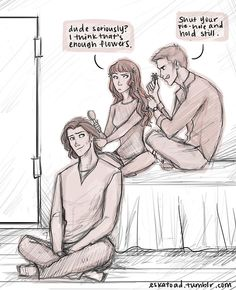 """Charlie:""""So… take-out? sleepover? braid each other's hair?"""" Sam, Dean, and Charlie having a real slumber party ∩(︶▽︶)∩"""