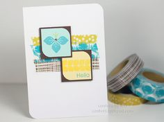 Lexi Daly and Modern Basics.  Washi tape used behind but boarder stamps could be used instead.......