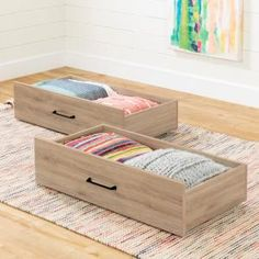 Find extra storage under the bed with this South Shore Fakto Rustic Oak Drawers on Wheels. Designed to fit perfectly under the single bed. Storage Shed Kits, Wood Storage Sheds, Storage Spaces, Drawers On Wheels, Set Of Drawers, Black Drawers, Underbed Storage Drawers, Twin Platform Bed, Wooden Organizer