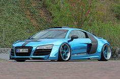 Chrome-Blue Audi R8 V10  ♥ #cars #sexy