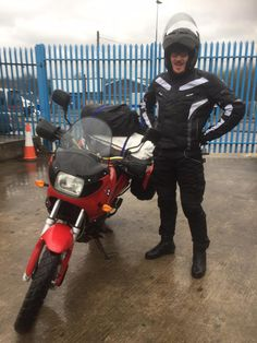 Leo called in with his new bike before his long journey to 🇫🇷. Leo only passed his full license last week.