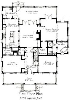 images about House PLans on Pinterest   House plans    Country Historic House Plan