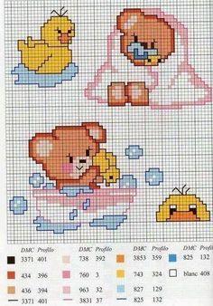 Resultado de imagem para banho para bebe em ponto cruz
