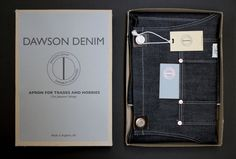 Dawson Denim's packaging is a joy to behold.