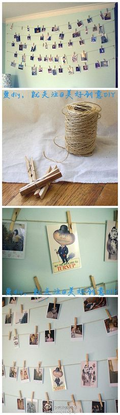 The fastest way to personalize your dorm room or bedroom is to add an awesome photo collage. Here are 15 DIY photo collage ideas you need to try now. Diy Photo, My New Room, My Room, Ideas Paso A Paso, Decoration Photo, Decoration Pictures, Photo Displays, Dorm Decorations, Cheap Home Decor