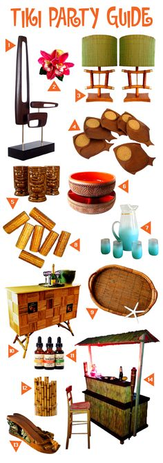 Tiki Bar and Party Guide for a Perfect Vintage Home | https://popshopamerica.com/blog/tiki-bar-tiki-party-guide-perfect-vintage-home/