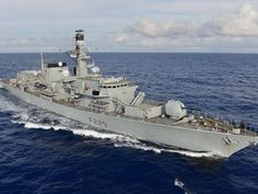 The HMS Lancaster on patrol. Royal Navy photo.