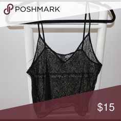 H&M see through lace tank Lace tank H&M Tops Camisoles