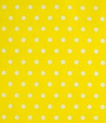 Tela Estampado Lunares Amarillo Algodon Poliester