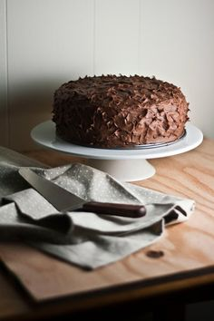 The Brown Betty Bakery's Chocolate Sour Cream Cake with Chocolate Buttercream Frosting - hummingbird high | a desserts and baking blog