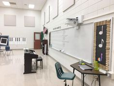 Shiflett's chorus classroom for the school year. Hip Hopera, Sign Up Sheets, Student Chair, Student Volunteer, Team Building Exercises, Bell Work, Electrical Tape, Elementary Music, Music Education