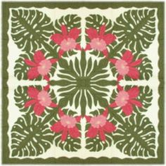 Stunning orchid pineapple quilt
