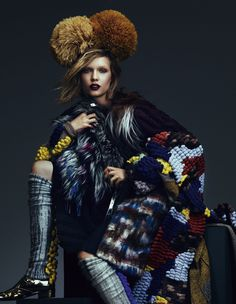 Key looks for autumn 'Traditional knitwear' | Josephine Skriver | Andrew Yee #photography | How To Spend It