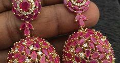 ... Gold Jhumka Earrings, Jewellery Earrings, Temple Jewellery, Gold Necklace, Drop Earrings, Gold Buttalu, Bridal Jewelry, Gold Jewelry, Gold Ornaments