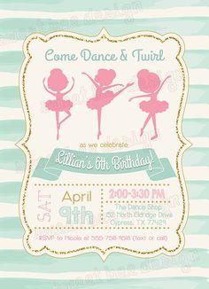 Bailarina cumpleaños invitación invitación de cumpleaños de