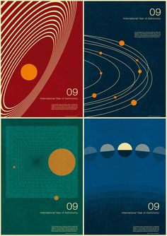 After having struggled with the opening titles for his documentary about the audiovisual collaboration N.A.S.A. The Spirit of Apollo, animator and director Syd Garon had somewhat of an epiphany when he saw Simon C Page's posters for The International Year Of Astronomy.