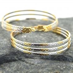 Σκουλαρίκια γυναικεία κρίκος τριπλός Bangles, Bracelets, Jewelry, Jewlery, Jewerly, Schmuck, Jewels, Jewelery, Bracelet