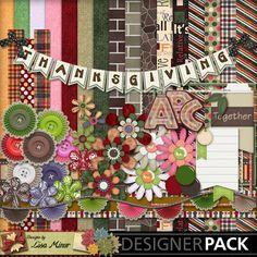 It's all Relative Scrapbook Kit, Digital Scrapbook Kit, Brick Papers, Word Art Papers, Plaid Papers, Fall flowers, Autumn Flowers, Fall Clip Art, Thanksgiving Clip Art, Alpha, Monogram, fall flowers
