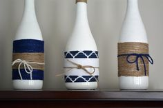 Decorative Wine Bottles by TheNebraskaFarmhouse on Etsy