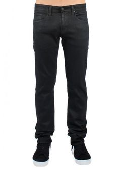 Adriano Goldschmied   Slim Fit 'Matchbox' Black Jeans   A clean, lean jean, this straight leg style embodies a modern denim fit. A softly brushed twill in versatile black makes this 5-pocket style a go-anywhere favourite. Tonal stitching and zip fly with button closure.