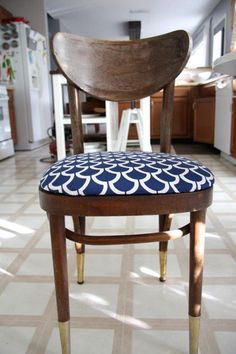 DIY Reupholstered Chairs   Love & Renovations