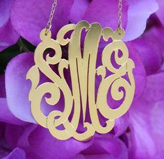 Keti Sorely Designs Gold Filled Monogram Necklace - Initial Obsession
