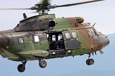 French Army Aviation (ALAT) AS532 Cougar helicopter, Photo : André Bour