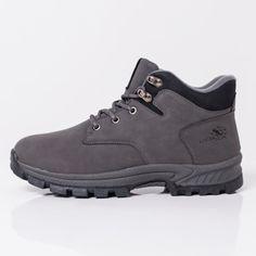 Ghete barbati gri Gonir Hiking Boots, Casual, Shoes, Fashion, Moda, Zapatos, Shoes Outlet, Fashion Styles, Shoe