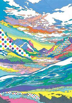 Asakura Kouhel - Landscape, 2012,  watercolor, colored pencil on drawing paper
