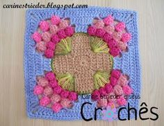 "ergahandmade: Crochet Motif with bouquet of tulips + Video Tutor. ""ergahandmade: Crochet Motif with bouquet of tulips + Video Tutorial"" Art Au Crochet, Puff Stitch Crochet, Crochet Motifs, Crochet Home, Crochet Crafts, Crochet Stitches, Crochet Projects, Knit Crochet, Diy Crafts"