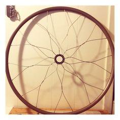 Bicycle mandala wall art, bike wheel home decor, recycled bike parts, bike gift