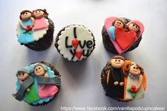 Valentine cupcakes !