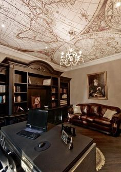 Traditional Home Office by Laqfoil Ltd.                                                                                                                                                     More #Traditionalhomeoffices