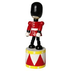 Traditional Wooden Push Toy Soldier | DotComGiftShop