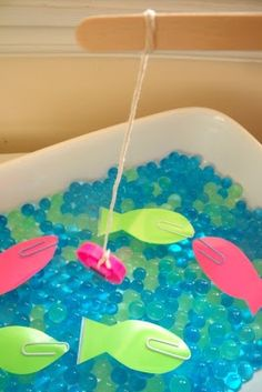 Easy to put together Waterbeads Fishing Game from Make, Do, and Friend.