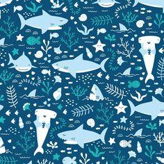 Sharp Shirter Fun Shark Shower Curtain Set with Cute Blue Fish Ocean Themed Bathroom for Kids and Teens Hooks Included Shark Shower Curtain, Colorful Shower Curtain, Blue Shower Curtains, Custom Shower Curtains, Bathroom Wallpaper Fish, Happy Shark, Shark Art, Cute Shark, Bathroom Kids