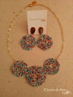 Suyi Trend Handmade Beaded Earrings Statement Drop Earrings Bohemian Tassel Dangle Earrings Creative Gifts for Women Lady – Fine Jewelry & Collectibles Bead Embroidery Jewelry, Beaded Jewelry Patterns, Beading Patterns, Beading Tutorials, Seed Bead Jewelry, Bead Jewellery, Diy Schmuck, Homemade Jewelry, Bead Weaving