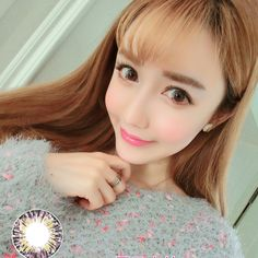 Soft Cosmetic Colored Contact Lenses Roman Diamond COS Girl (Pink)