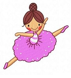 Ten Little Ballerinas Set - 4x4 | What's New | Machine Embroidery Designs | SWAKembroidery.com Fun Stitch