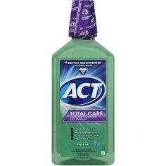 ACT Total Care Fresh Mint Anticavity Fluoride Mouthwash, 33.8 fl oz