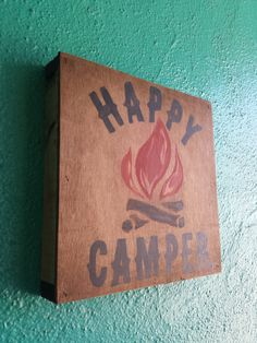 Happy Camper ..... Hand Painted wood sign by Studio11Online